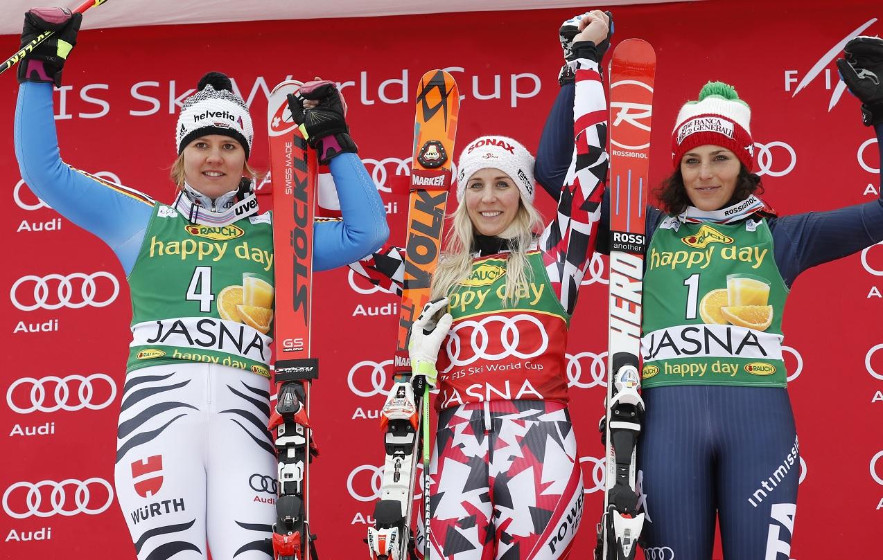 Rebensburg, Brem, Brignone sul podio in gigante a Jasna @FISI/Pentaphoto