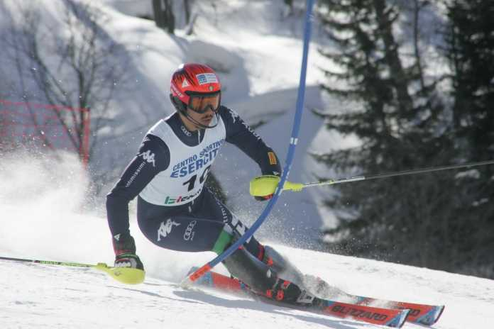 Davide Da Villa in azione a Valgrisenche