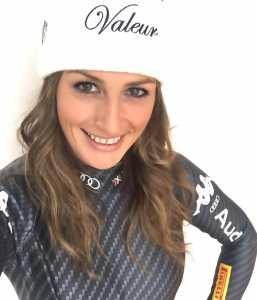 Nadia con la nuova tuta italiana per la stagione 2016-2017