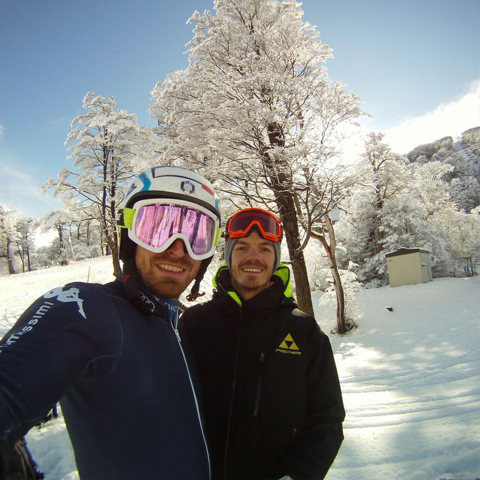 Manfred con il fratello skiman Michael