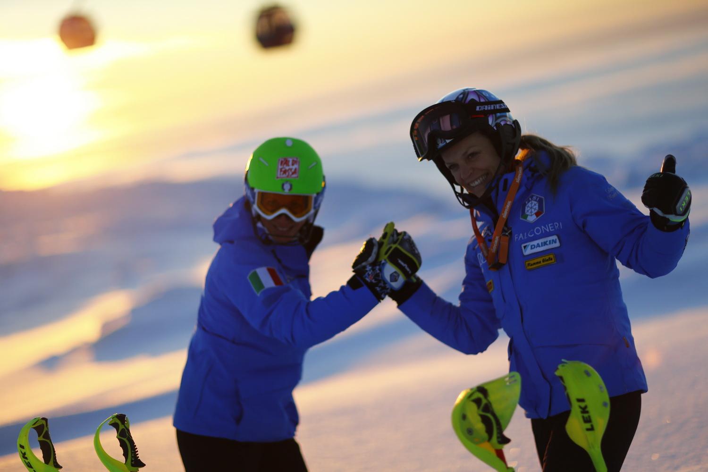 Chiara Costazza e Manuela Moelgg in pista ©Agence Zoom