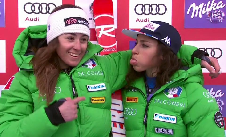 Sofia Goggia e Federica Brignone a Courchevel. Non fermatevi...