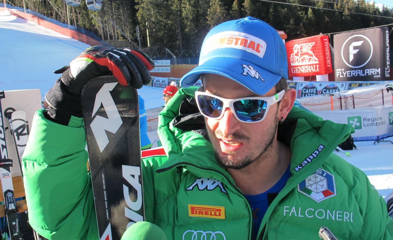 Dominik Paris nella finish area ©Gabriele Pezzaglia