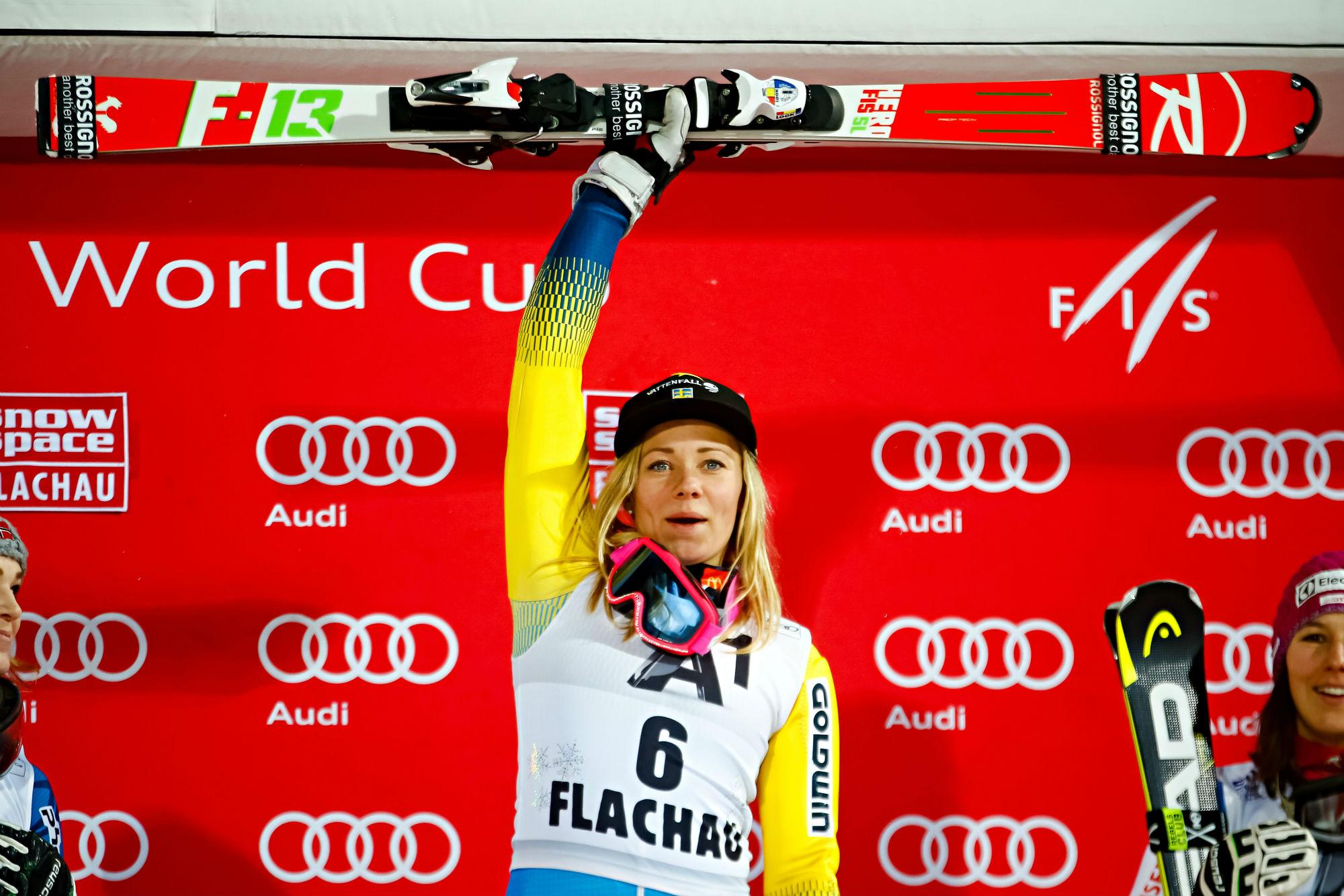 Frida Hansdotter in trionfo a Flachau (@Zoom agence)