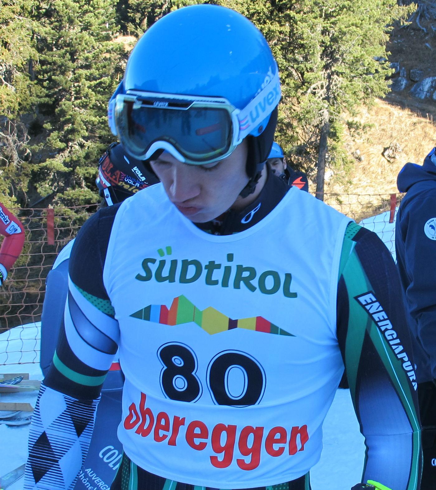 Nicolò Menegalli in partenza a Obereggen in Coppa Europa @Gabriele Pezzaglia