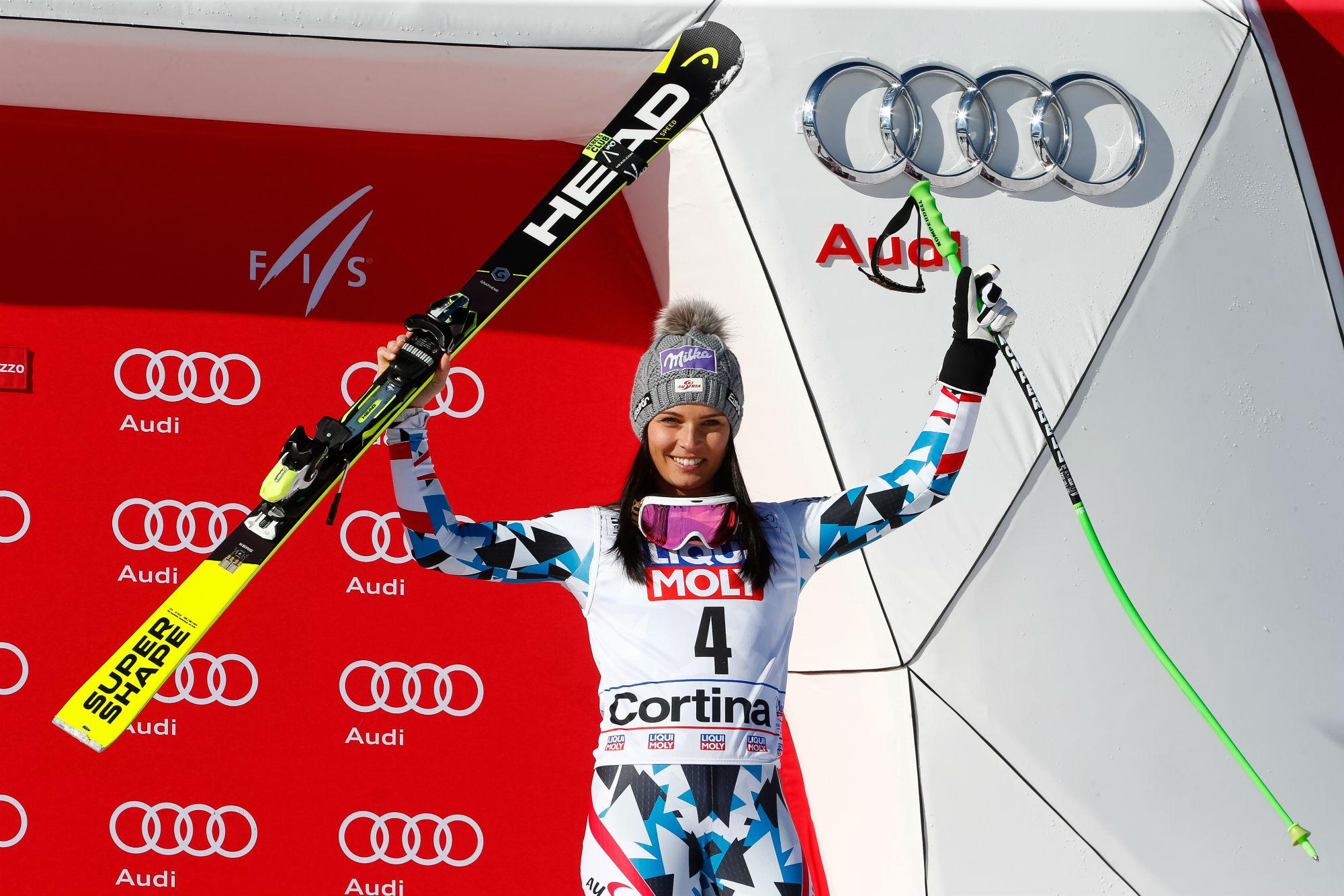 Anna Veith, podio n° 44 in Coppa del Mondo (@Zoom agence)