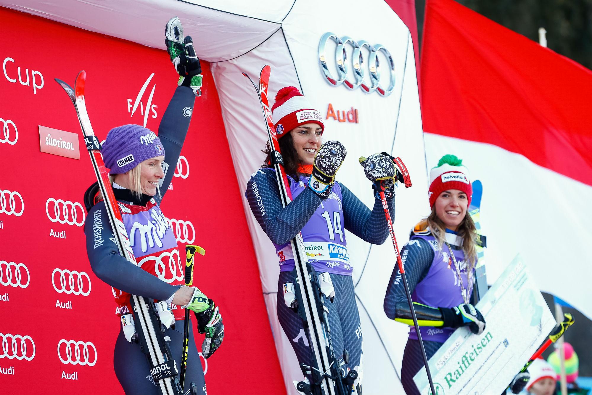 Worley, Brignone e Bassino sul podio a Kronplatz in gigante (@Zoom agence)