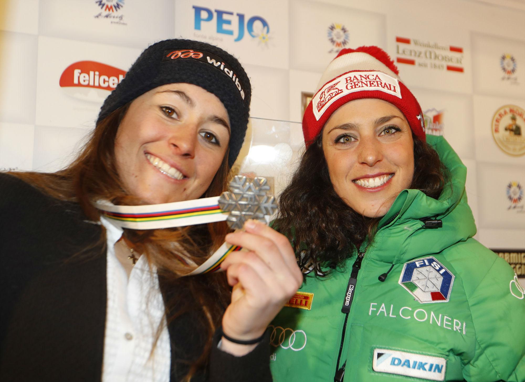 Sofia Goggia e Federica Brignone (@Pentaphoto)