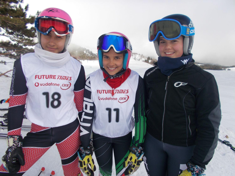 Il podio femminile GS categoria Ragazzi ©Gabriele Pezzaglia
