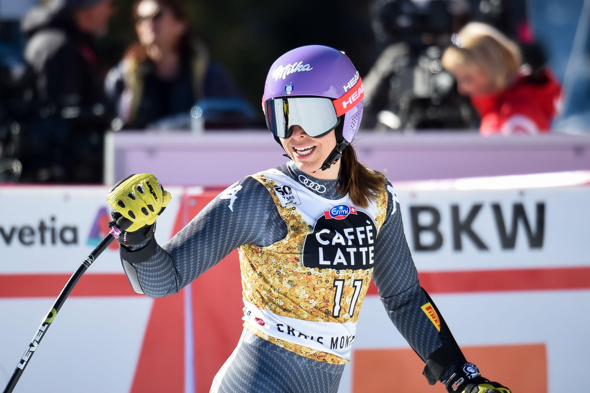 Elena Curtoni, terzo podio in Coppa (@Zoom agence)