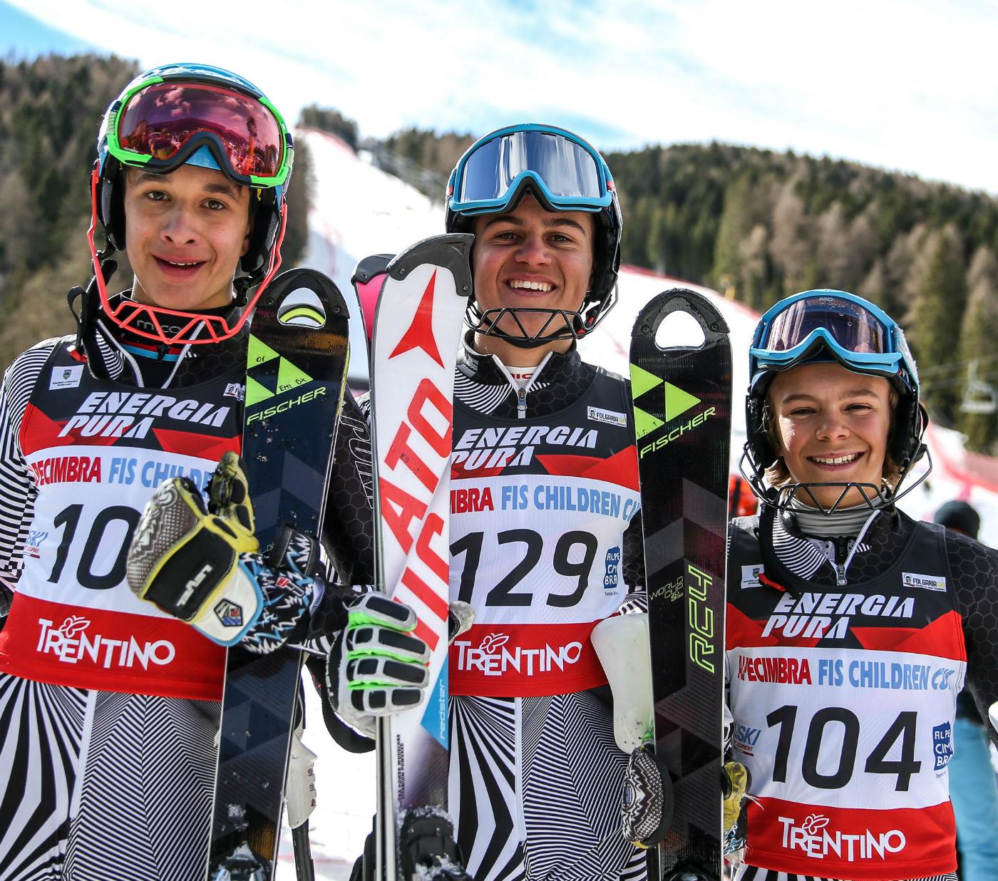 Il podio dello slalom RZ