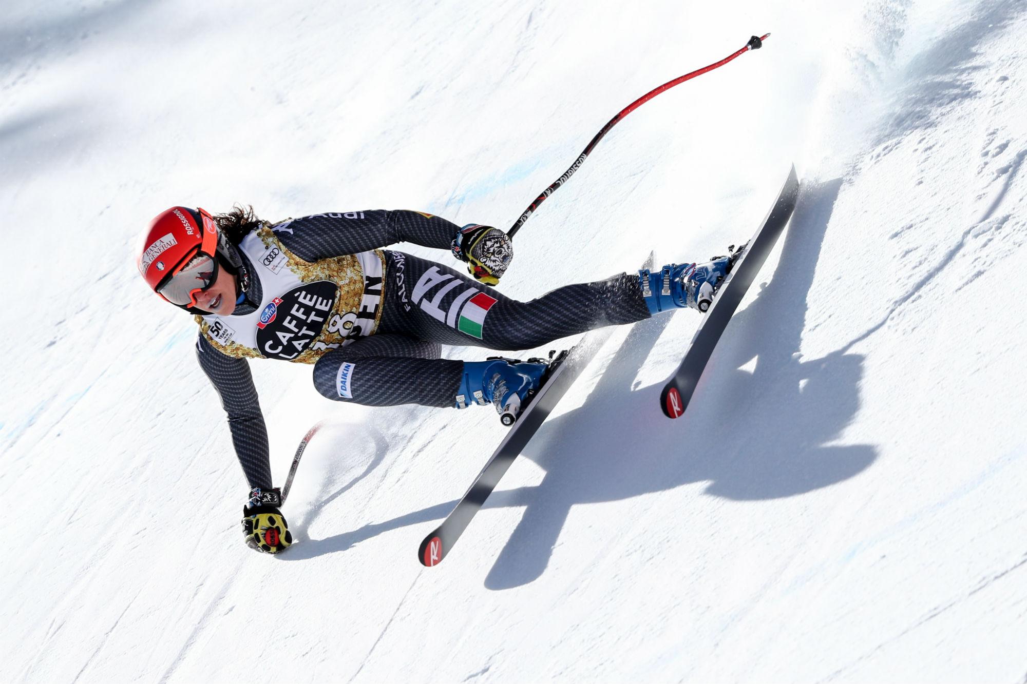 Federica Brignone in azione ad Aspen (@Pentaphoto)