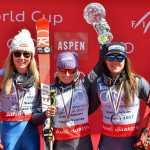 Mikaela Shiffrin, Tessa Worley e Sofia Goggia sul podio della classifica finale in gigante 2016-2017 (@Zoom agence)