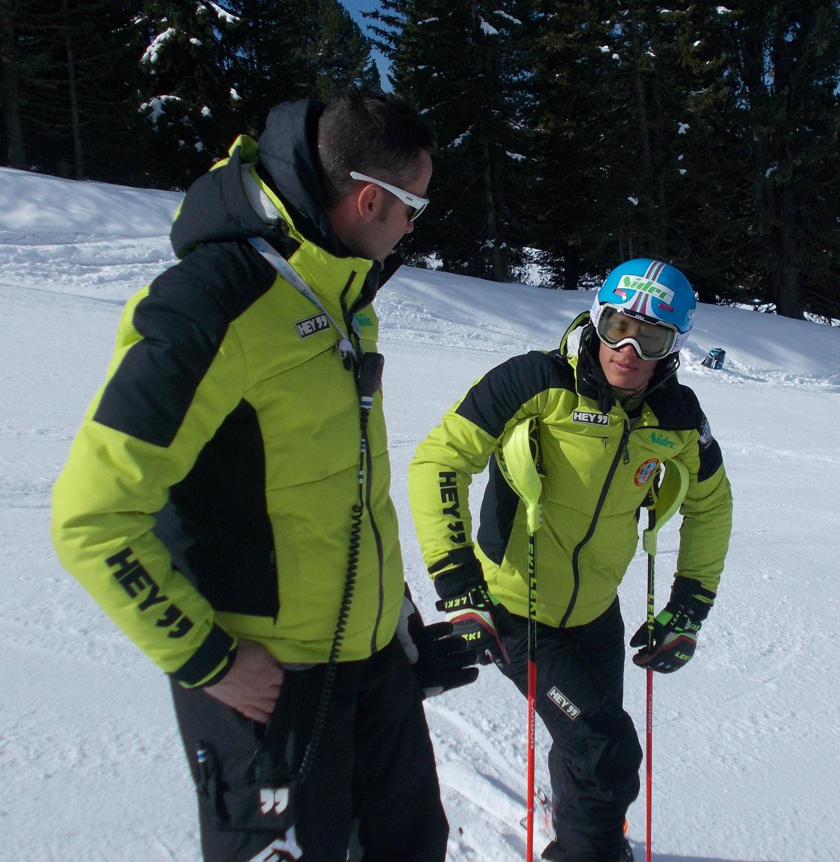 Luca Taranzano, Ski Dreams Nidec, in ricognizione con il coach Gianluca Zanitzer ©Gabriele Pezzaglia