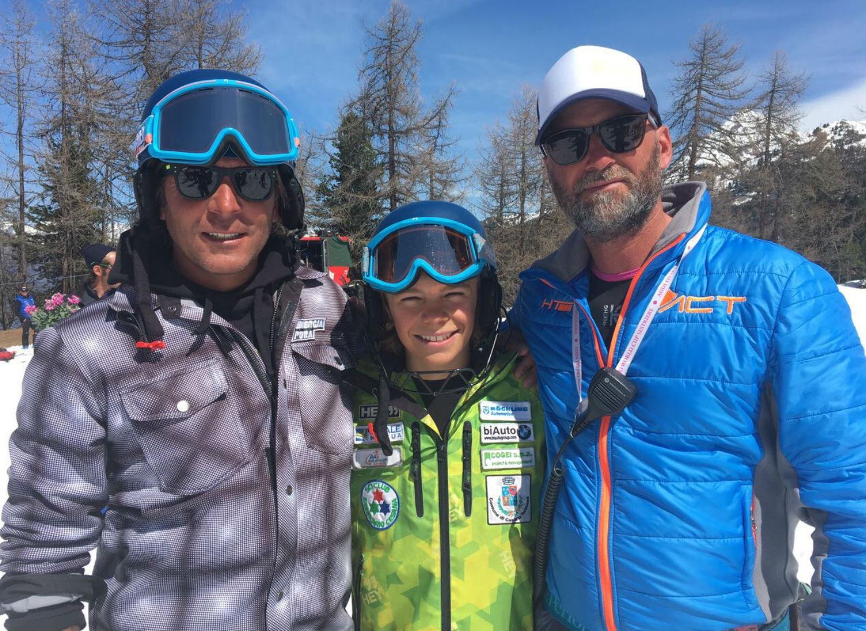 Leonardo Rigamonti con i coach del San Sicario @Gabriele Pezzaglia