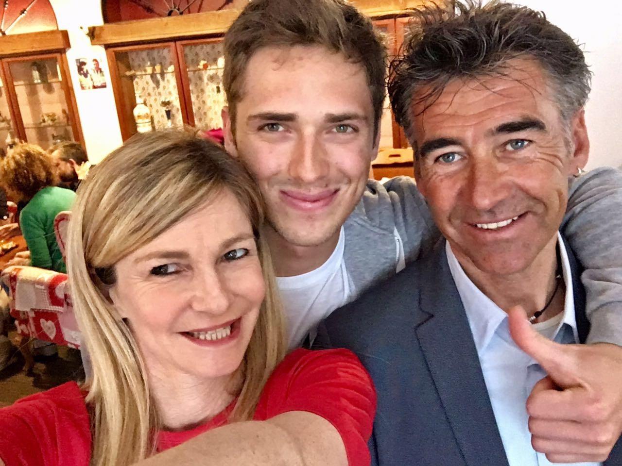 Gugu Bosca con mamma Cristina e il tecnico Stefano Pellin