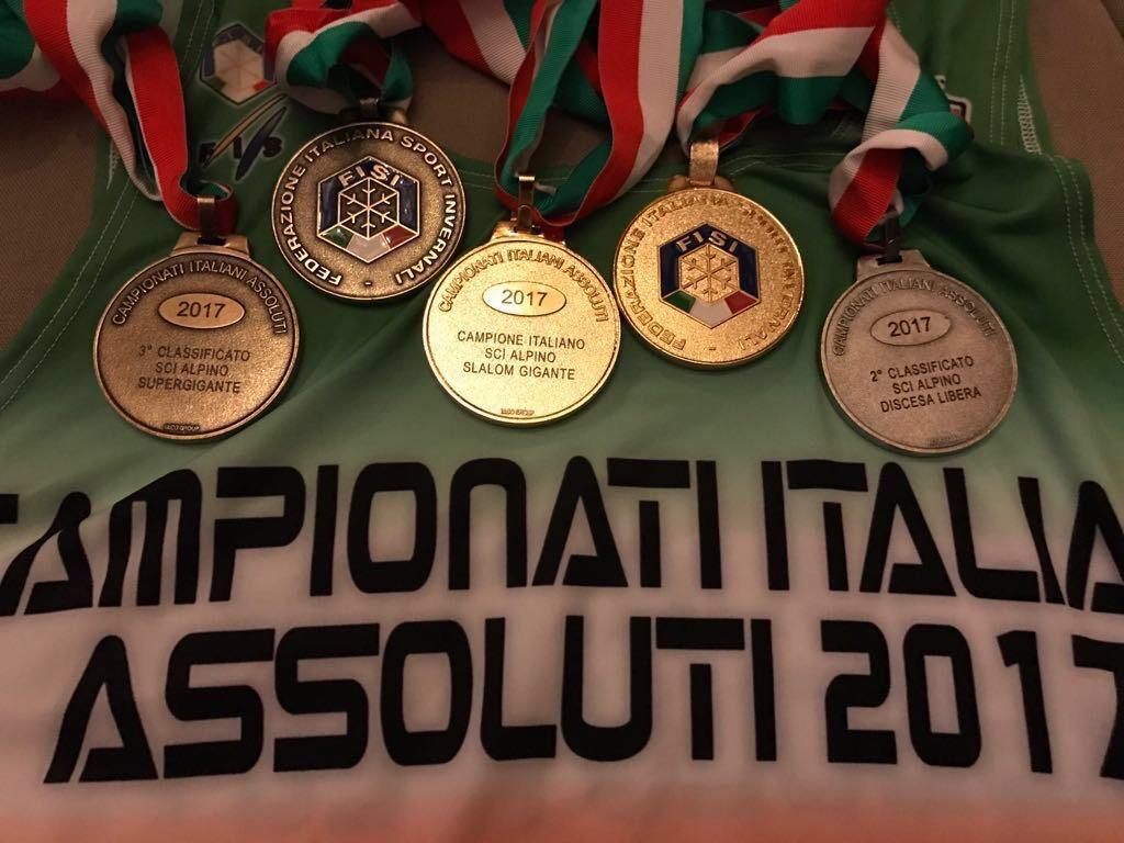 Le 5 medaglie