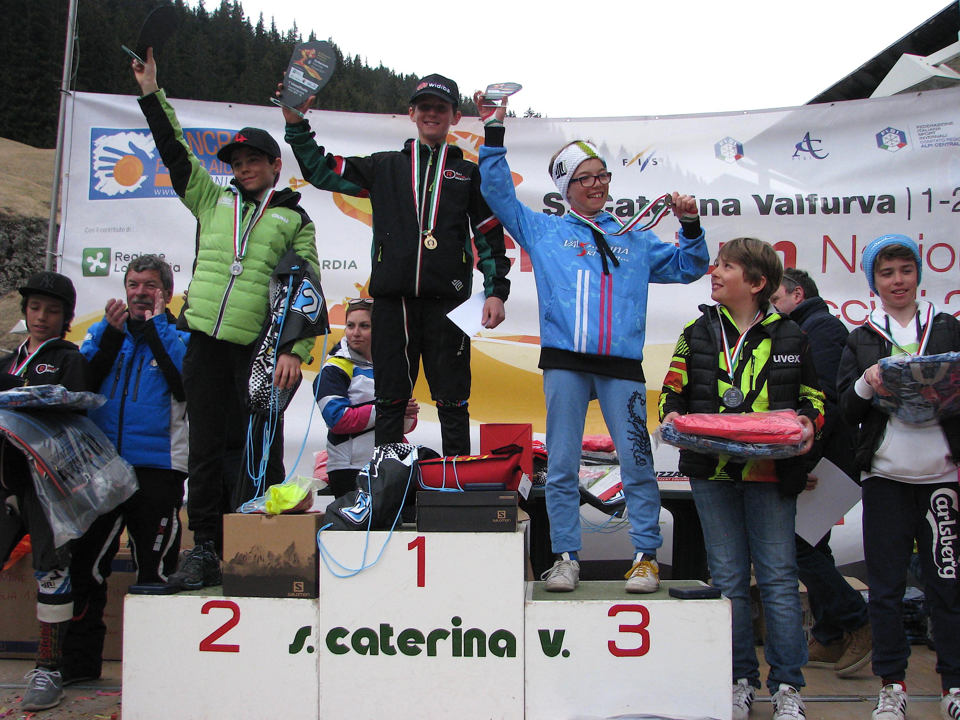 Podio slalom maschile 2005