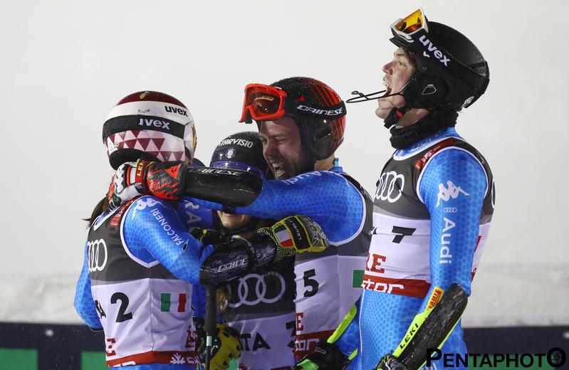 Ski World Championships ARE 2019 , Are, Sweden.12/2/2019.Team Italy bronze medalist in team event. photo:Pentaphoto/Alessandro Trovati.