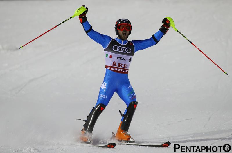 Ski World Championships ARE 2019 , Are, Sweden.12/2/2019.Team Italy bronze medalist in team event Simon Maurberger.. photo:Pentaphoto/Alessandro Trovati.