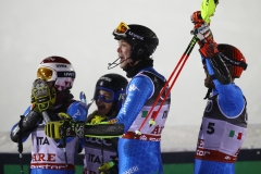 Ski World Championships ARE 2019 , Are, Sweden.12/2/2019.Team Italy bronze medalist in team eventCurtoni, Della Mea, Vinatzer, Maurberger. photo:Pentaphoto/Alessandro Trovati.