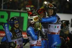 Fis Alpine  World Ski Championships 2019.                                                       Team Italy bronzo medalist in team event  . Are (SWE), 12 febbraio 2019 Photo: Marco Trovati/Pentaphoto