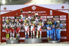 Fis Alpine  World Ski Championships 2019.                                                       Team Austria Suisse Italy in  team event  . Are (SWE), 12 febbraio 2019 Photo: Marco Trovati/Pentaphoto