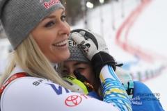 Fis Alpine  World Ski Championships 2019.                                                        Lindsey Vonn (USA)  Sofia Goggia (ITA) Are (SWE), 10 febbraio 2019 Photo: Marco Trovati/Pentaphoto