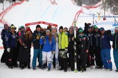Fis Alpine  World Ski Championships 2019.                                                        Lindsey Vonn (USA) Ingemar Stenmark Sofia Goggia (ITA) Are (SWE), 10 febbraio 2019 Photo: Marco Trovati/Pentaphoto