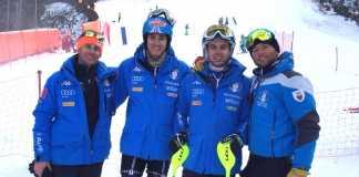 Nello Vicenzi, Federico Liberatore, Fabian Bacher e Davide Simoncelli in Slovenia