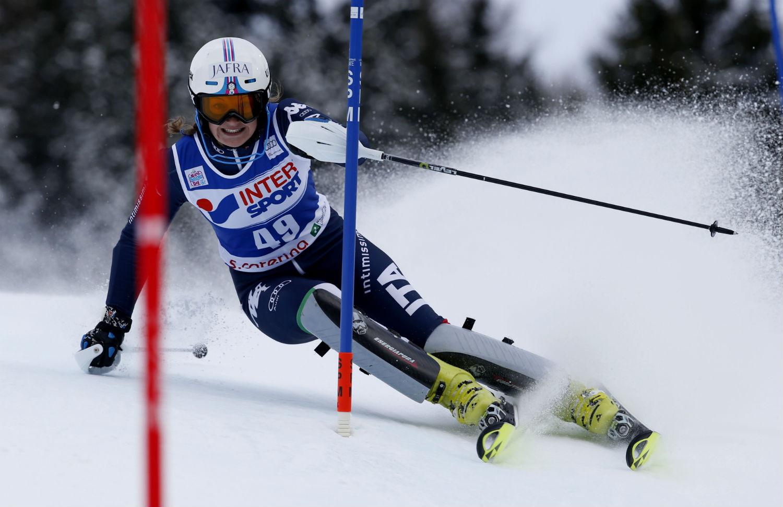 Federica Sosio in azione in slalom a Santa Caterina @FISI/Pentaphoto