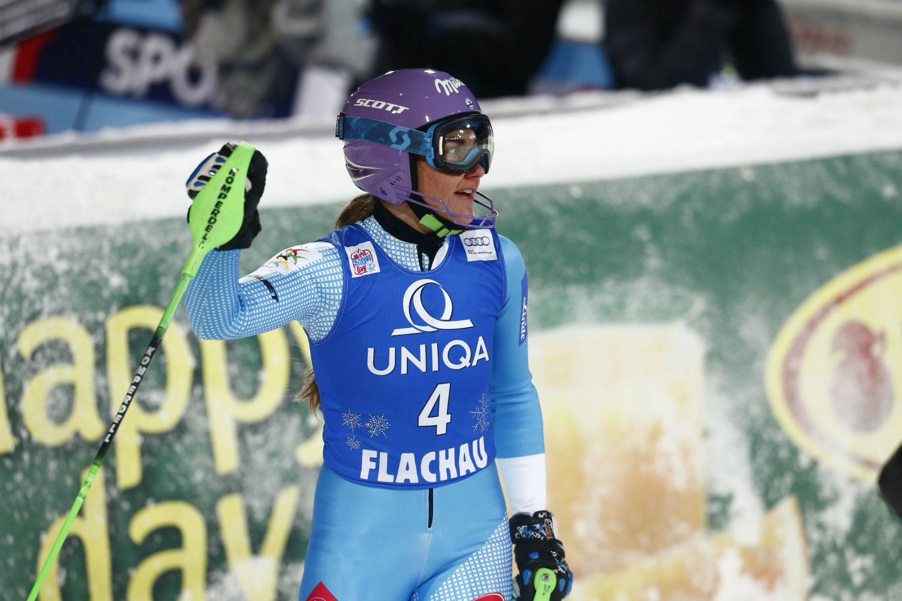 Sharka Strachova insegue a Flachau la terza vittoria in Coppa del Mondo. E' stata campionessa mondiale nel 2007 @ZOOM agence