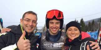Pietro Canzio dopo la gara di Lillehammer
