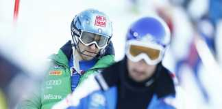 Stefano Gross in ricognizione a Schladming