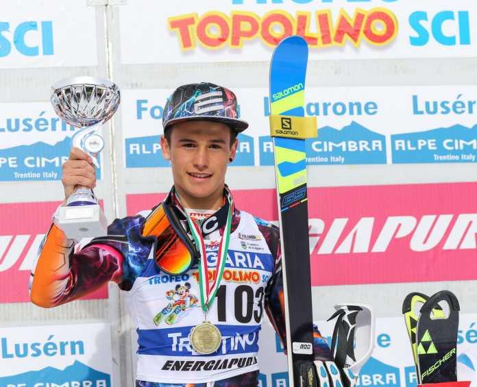 Francesco Colombi sul podio di Folgaria