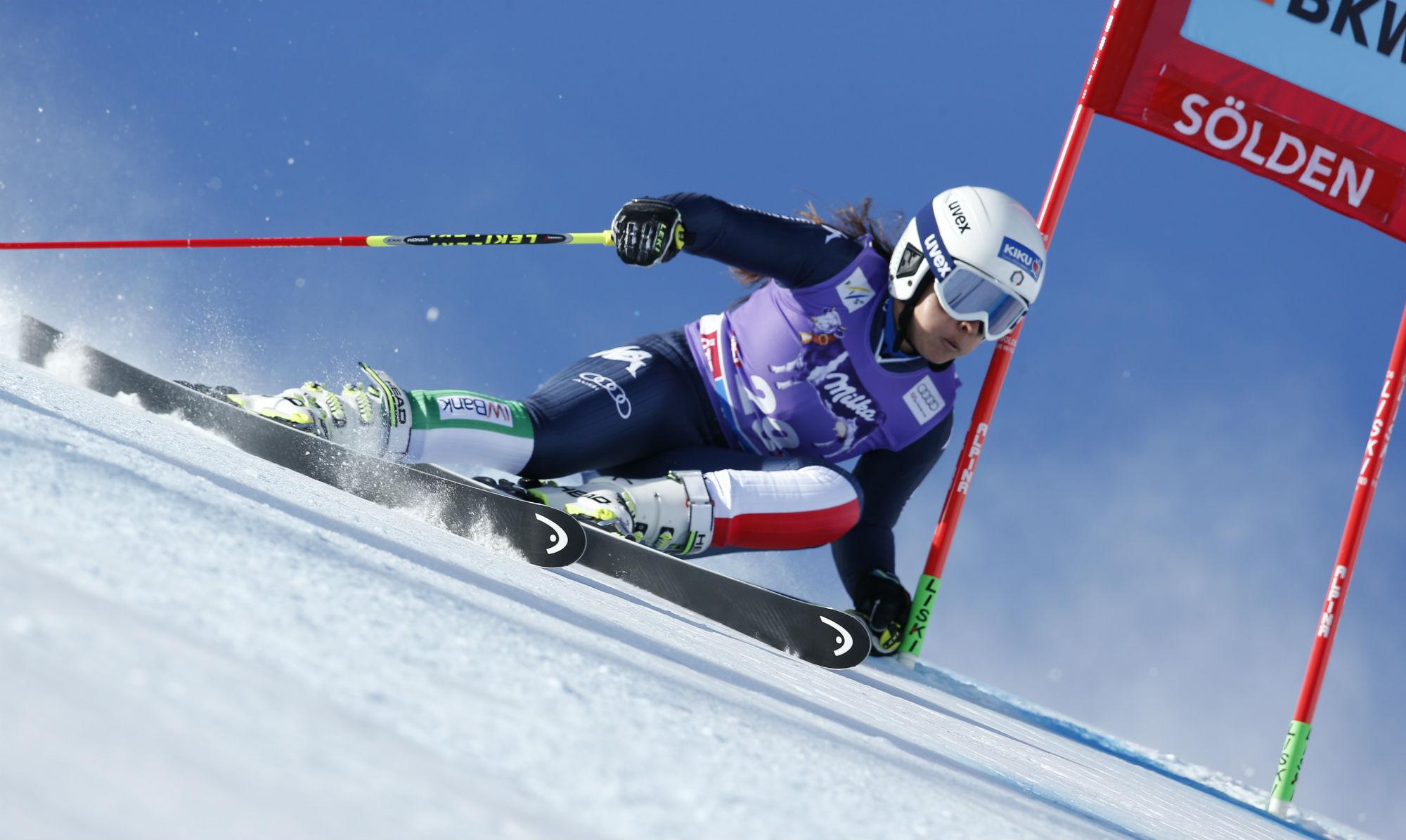 Karoline Pichler in azione in gigante @Zoom Agence