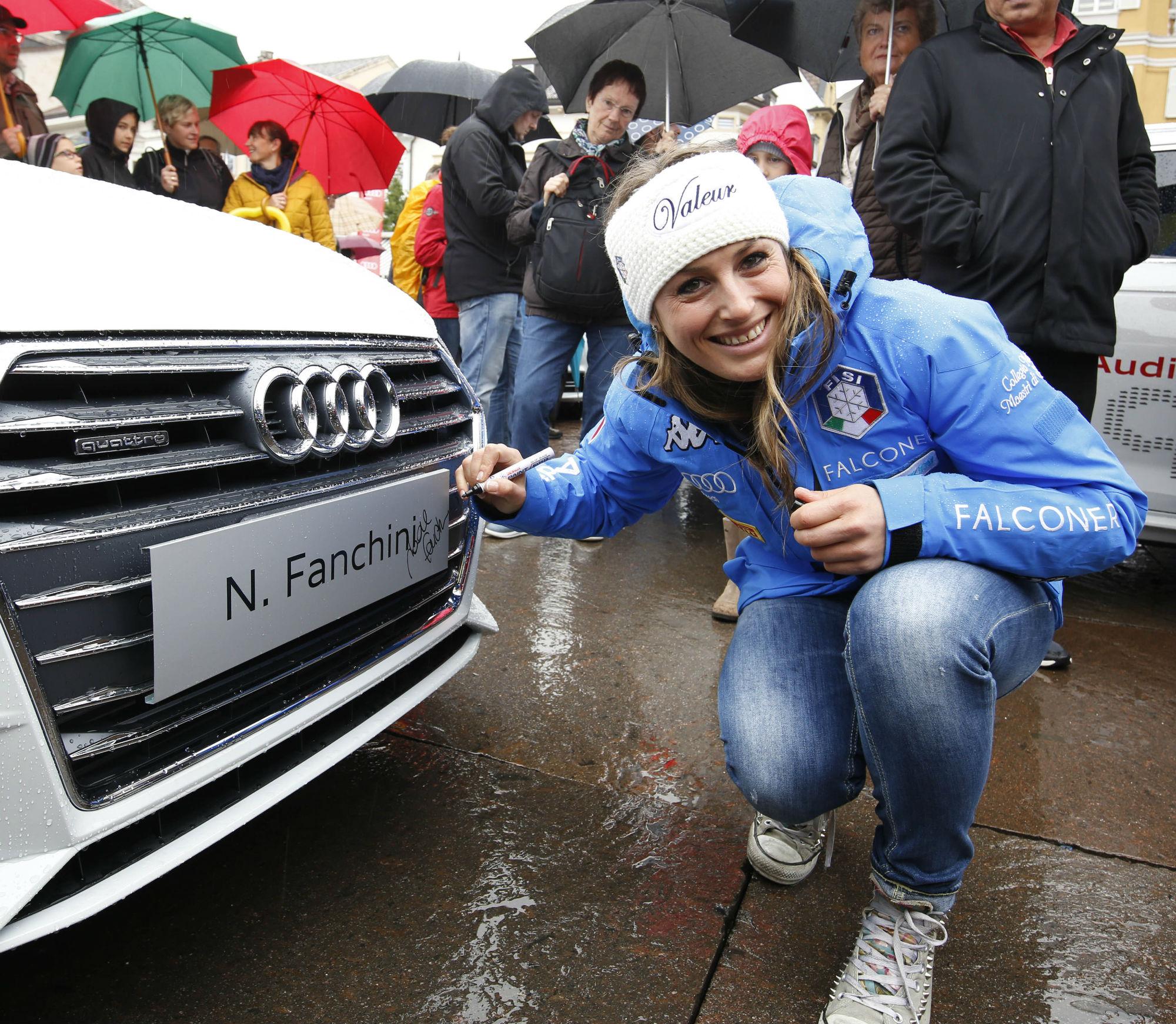 Nadia Fanchini alla consegna delle AUDI - Bolzano (@FISI/Pentaphoto)