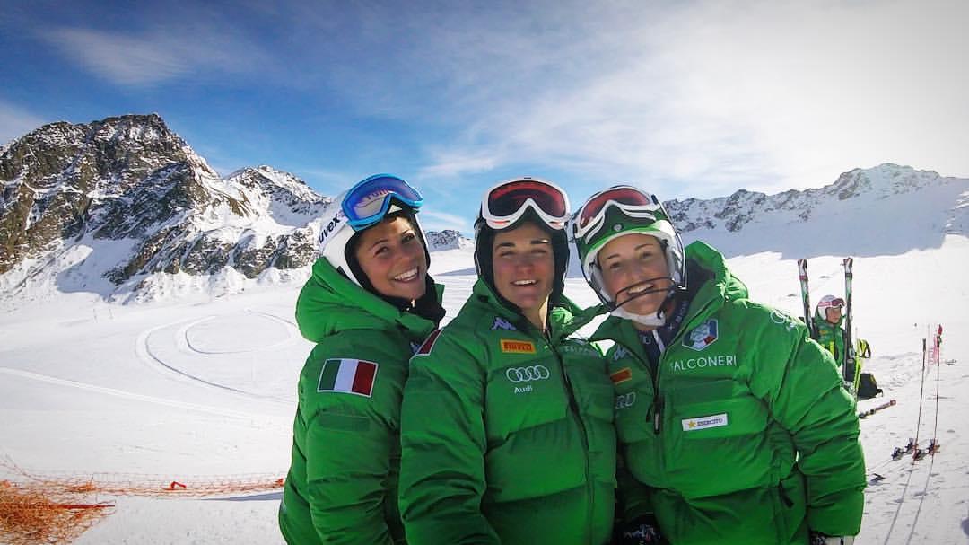 Jasmine Fiorano, Jole Galli e Martina Perruchon in Val Senales (@Pag. FB ufficiale Fiorano)
