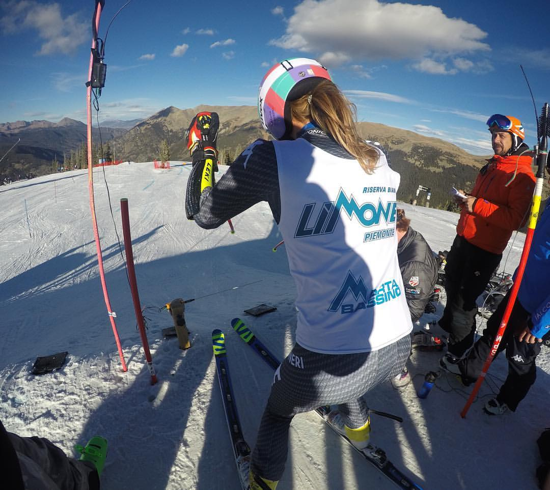 Marta Bassino si allena in velocità a Copper Mountain (@Pag. FB ufficiale Bassino)