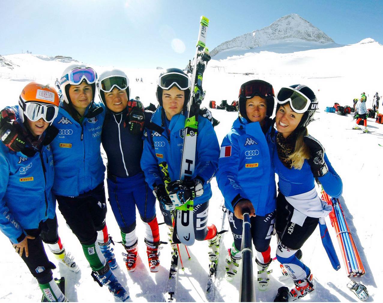 Da sinistra: Alessia Timon, Nadia Delago, Sofia Pizzato, Jole Galli, Valentina Cillara Rossi, Roberta MelesI