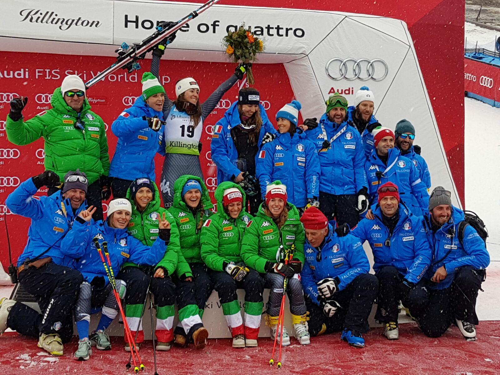Due gare, due podi per l'Italia femminile del gigante: dopo Bassino, tocca a Goggia