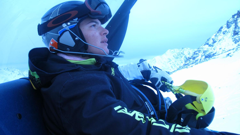 Alessio Bonardi, Ski College Veneto, in seggiovia