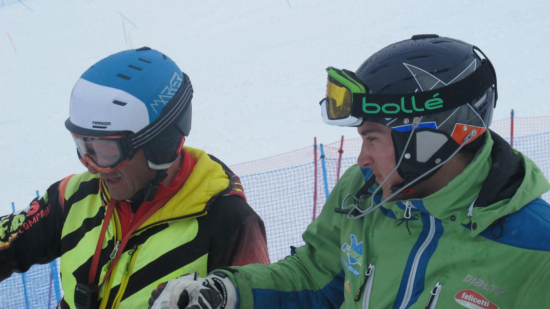 Matteo Pradal in ricognizione con Pietro Dalmasso, Ski College Veneto