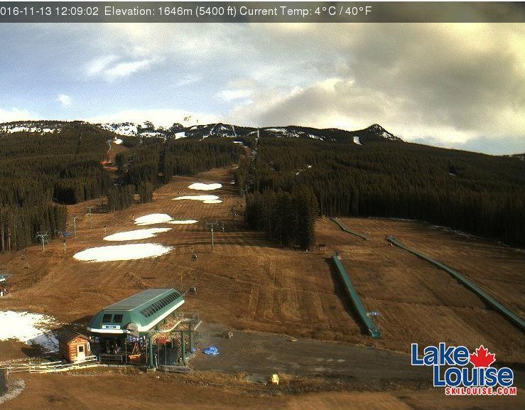 Stazione sciistica di Lake Louise a valle (@Web Cam Lake Louise)