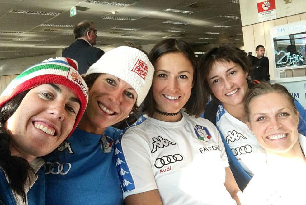 Azzola, Costazza, Curtoni, Perruchon e Moelgg. Forza ragazze (@Pag. FB ufficiale Irene Costazza)