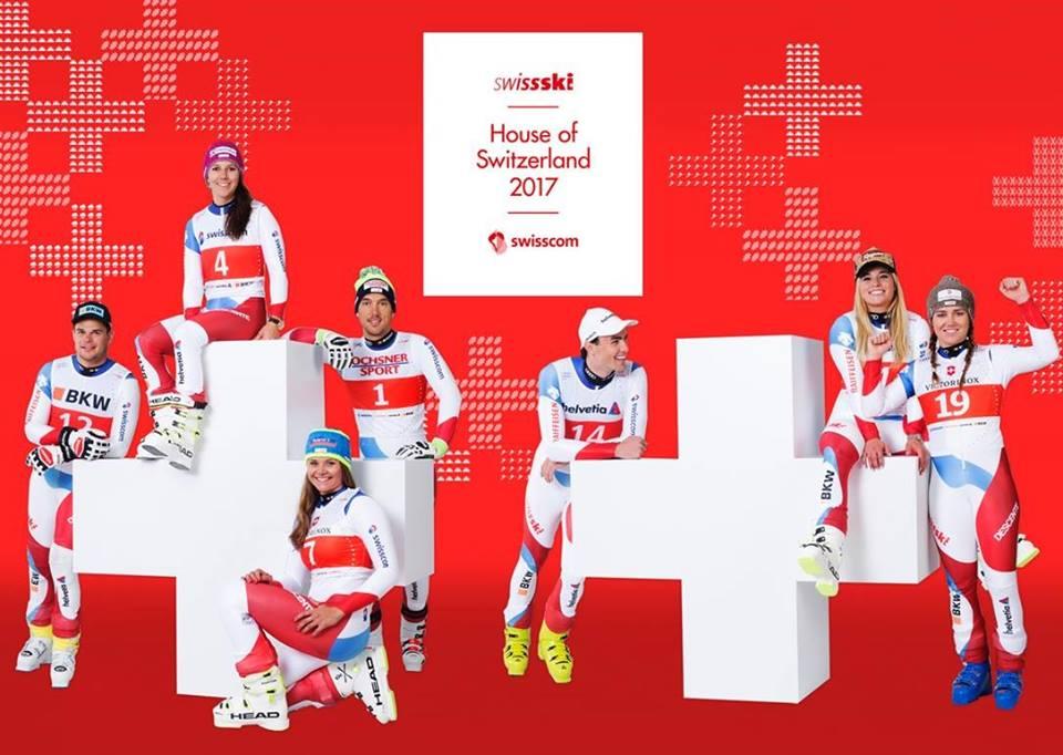Team svizzero (@Pag. FB ufficiale Swiss Ski)