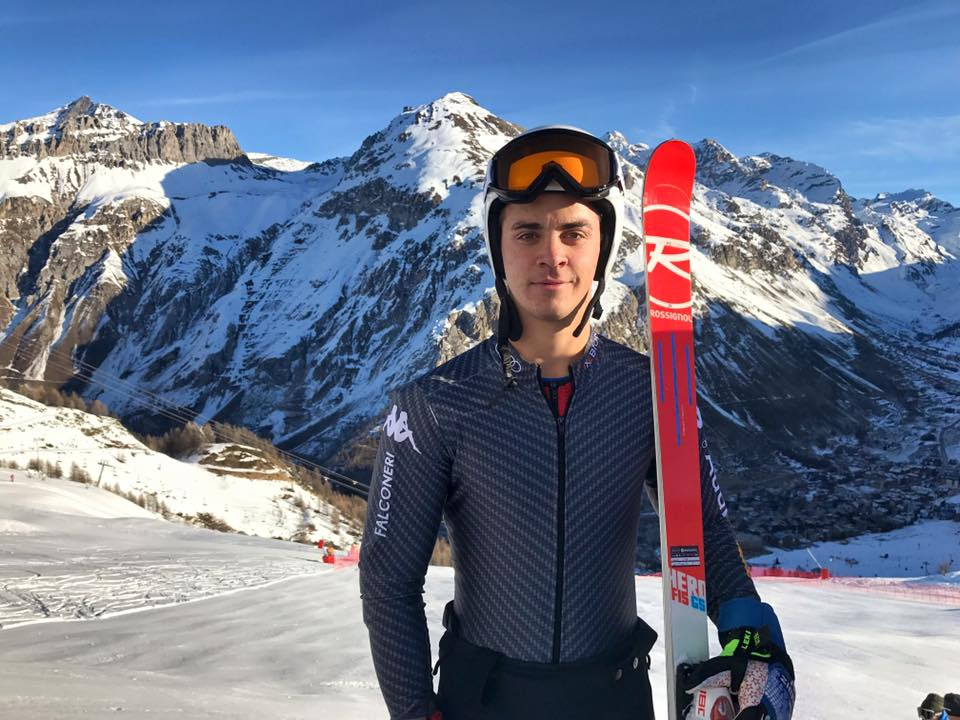 Hanns Zingerle posa in Val d'Isere