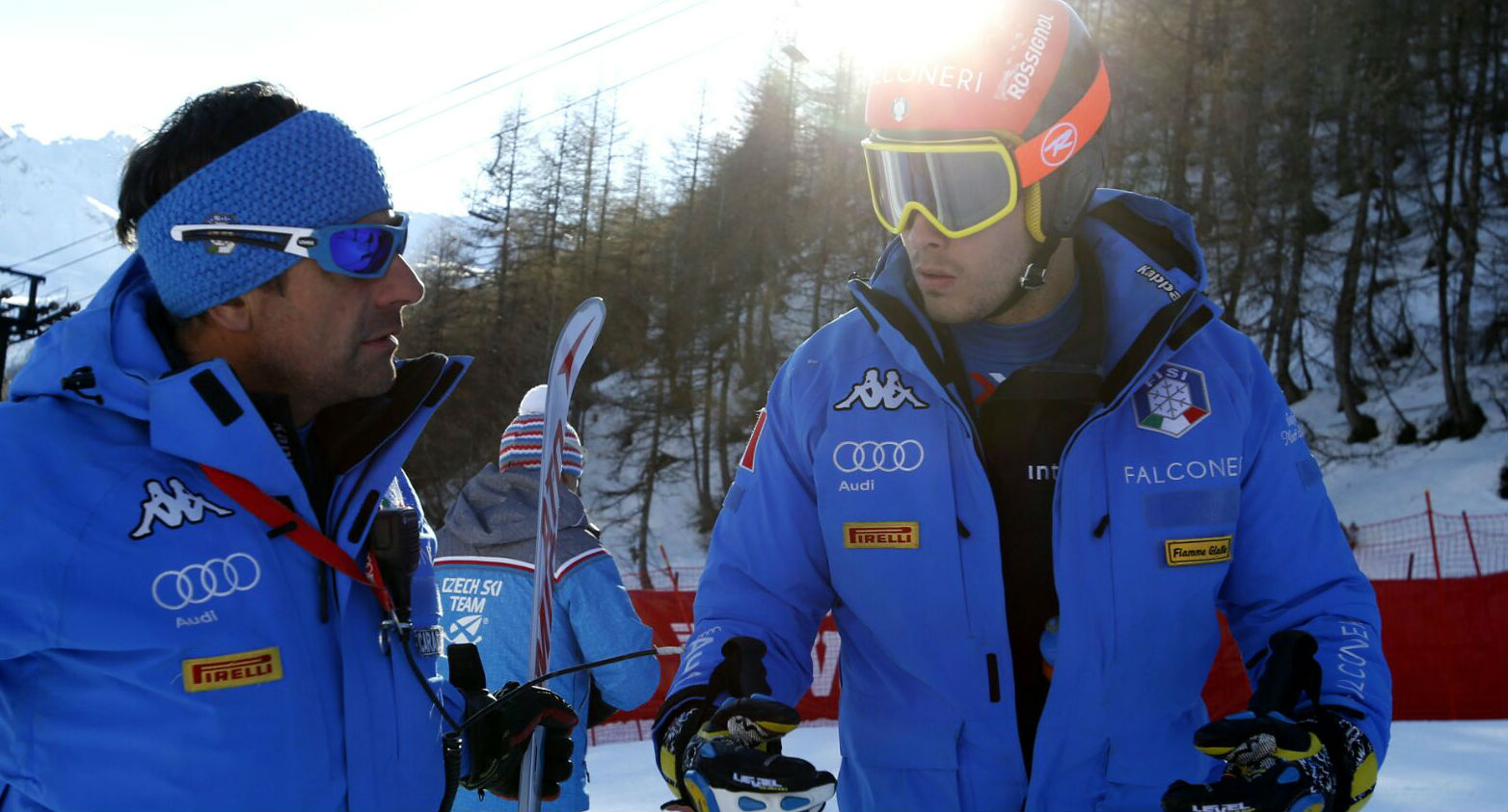Christof Innerhofer con Raimund Plancker