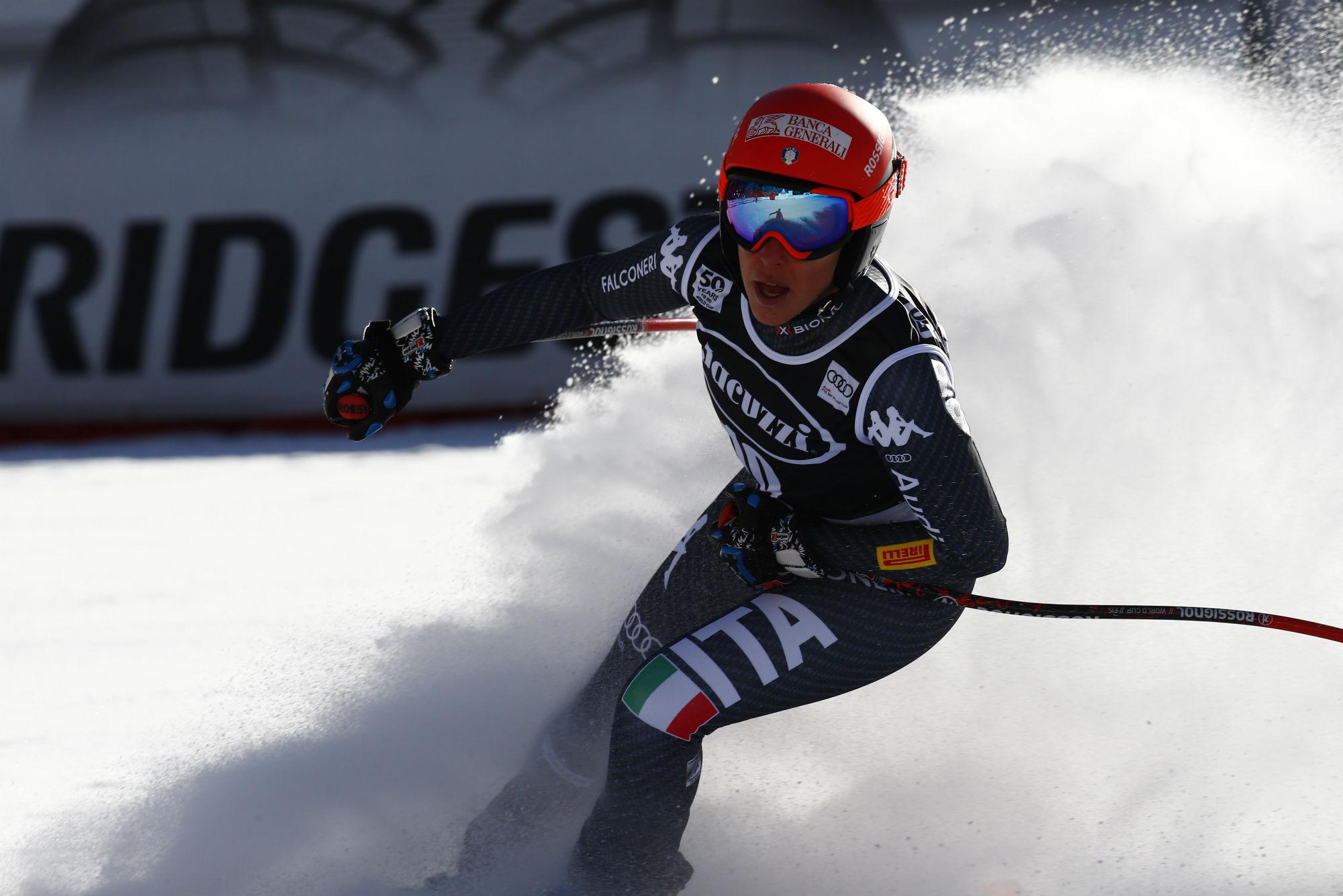 Federica Brignone all'arrivo della discesa in Val d'Isere (@Zoom agence)