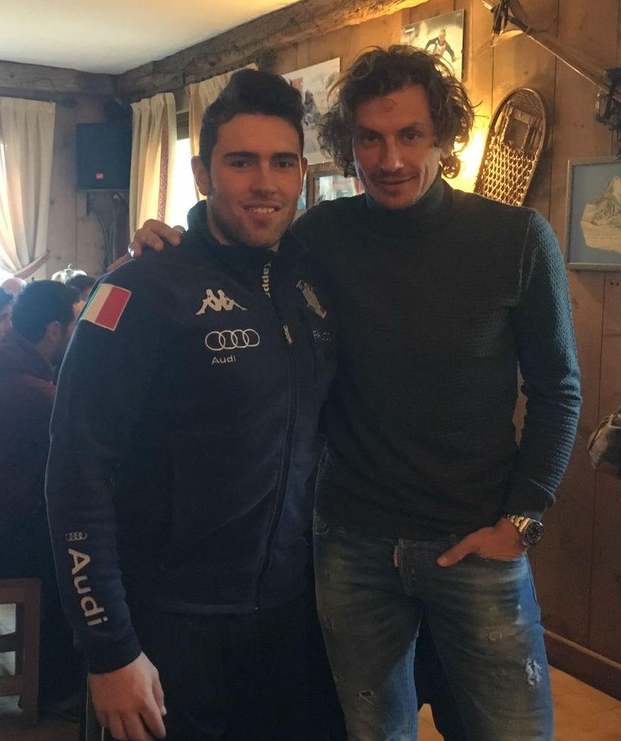 Filippo Pozzato e l'azzurro Henri Battilani